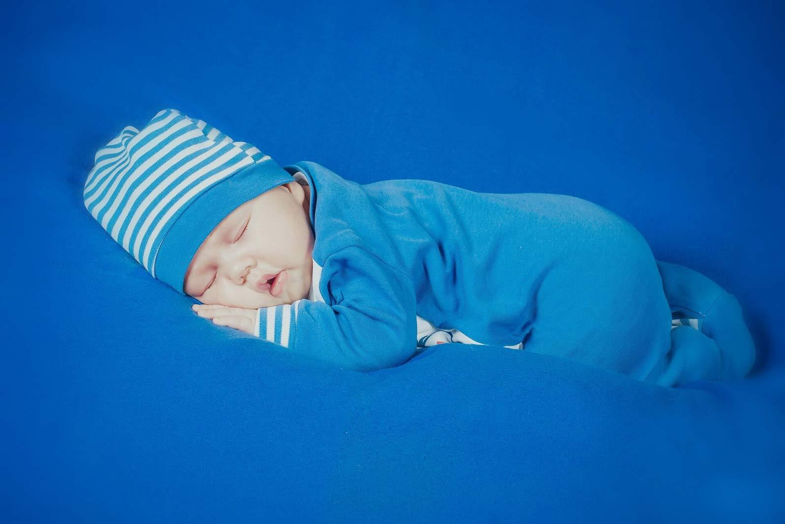 Blau ist die typische Farbe für Jungs